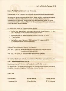 Anschreiben zur Mitgliederversammlung am 9. April 2016